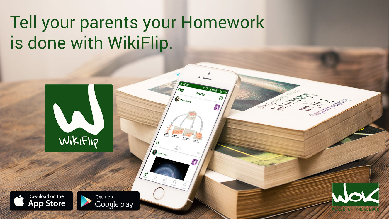 WikiFlip app is Instagram for the Brain